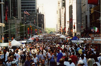 6th Avenue packed with street fair attendees