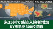 新型コロナ感染死者21万2600人以上 35州で感染入院者増加