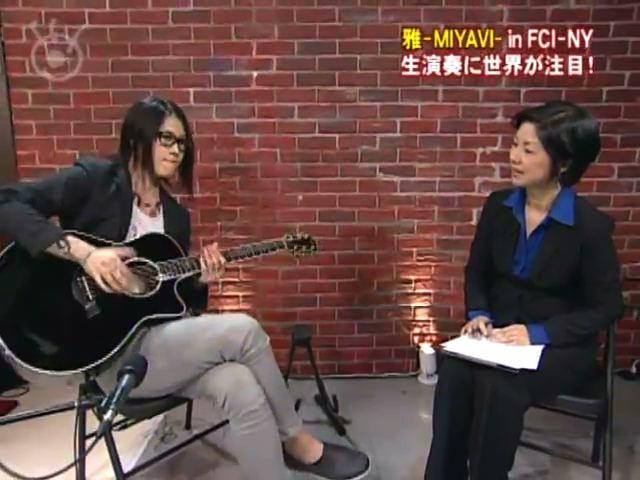 雅-MIYAVI- IN  FCI-NY  生演奏に世界が注目!