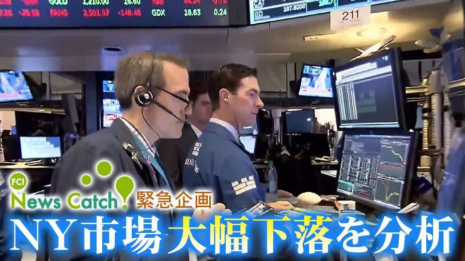 NY市場の株価大幅下落を専門家が分析