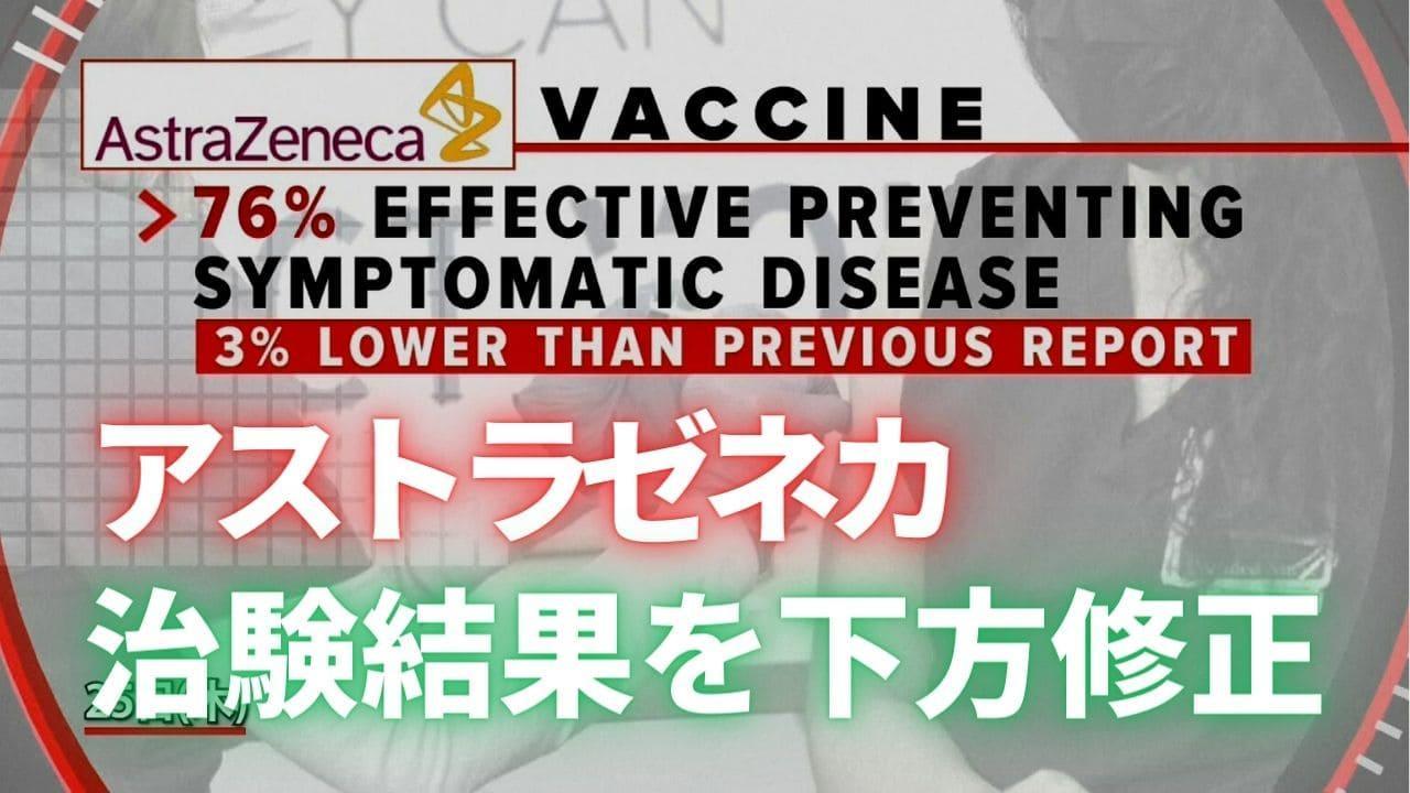 米国第4のワクチン アストラゼネカ治験結果を修正