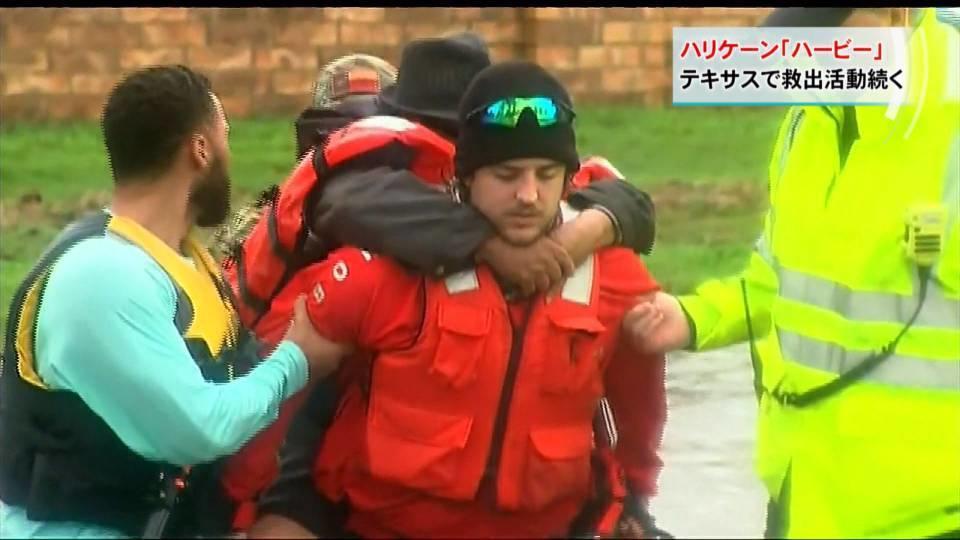 ハリケーン「ハービー」が猛威 テキサスで救出活動続く