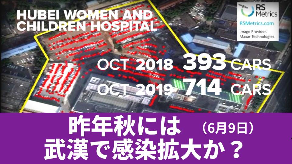 6月9日 昨年秋には 武漢で感染拡大か?