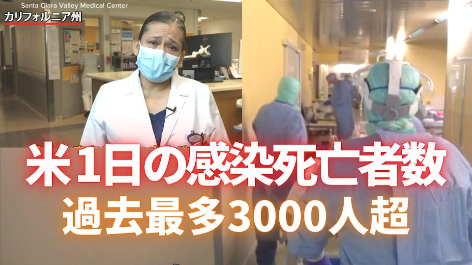 新型コロナウイルス 1日の感染死亡者数 過去最多