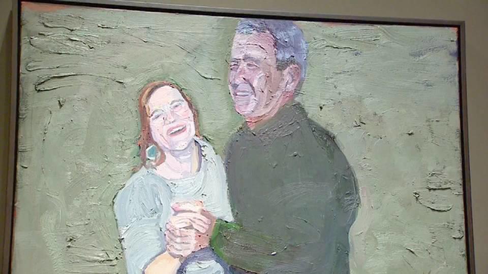 ブッシュ元大統領 退役軍人テーマに油絵個展開催