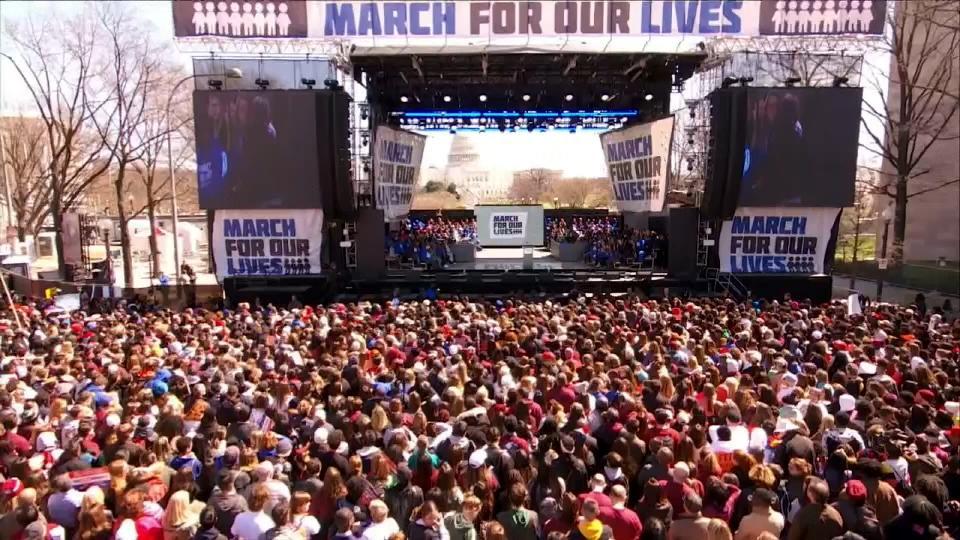 全米で銃規制の強化を求める抗議デモ/ March for Our Lives took place