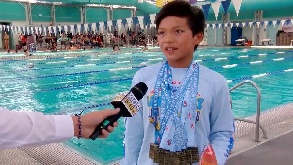 リアルスーパーマン現る? 10歳少年が快挙 / Clark Kent is next Phelps!